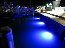 1 (75 watt) 1800 Lumens (Blue)Led Underwater dock light+1 waterproof transformer