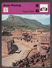 TARGA FLORIO Italy Car Race Circuit Auto Racing 1978 SPORTSCASTER CARD 24-20