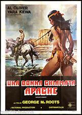 UNA DONNA CHIAMATA APACHE MANIFESTO CINEMA SEXY WESTERN ITA 1976 MOVIE POSTER 4F