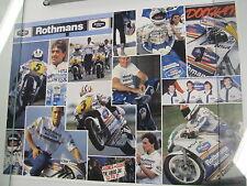 Poster Team Rothmans Honda 1991 500cc Doohan / Gardner 250cc Cadalora (PBE)
