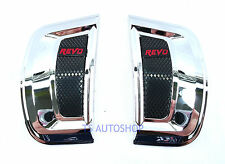CHROME BLACK SIDE VENT FENDER COVER FOR TOYOTA HILUX REVO SR5 M70 M80 2015-ON