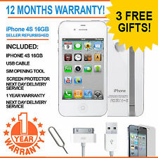 Apple Iphone 4s 16 Gb-EE Naranja T-mobile Virgin Mobile Smart Phone Blanco