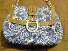 American Living Blue Purse/Handbag Leather trim