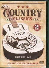COUNTRY CLASSICS VOLUME 1 & 2 CLASSIC LIVE PERFORMANCES - 2 DVD BOX SET