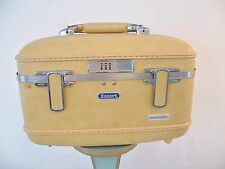 VTG 1960's American Tourister Escort Cosmetic Make Up Train Case Luggage Yellow