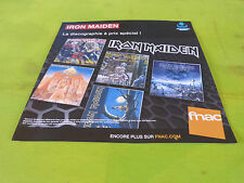 IRON MAIDEN - DISCOGRAPHY !!!!!!!PLV 30 X 30 CM !!INSTORE PAPER DISPLAY
