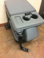 CLOTH 11 12 13 14 15 FORD F250 F350 F450 F550 CENTER CONSOLE JUMP SEAT NTO GREY