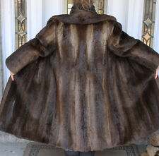 NATURAL RIVER OTTER FUR COAT Size 18-20