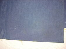 "Vintage Cotton Denim Fabric NAVY BLUE 1 Yd/44"" Wide"
