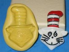Dr Seus The Cat in the Hat 2D Push Mold Food Safe Silicone A116 Cake  Resin Clay