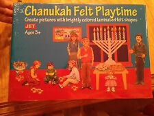 Chanukah Hanukkah Felt Playtime Toy Set NEW Sealed Laminated Felt Shapes Ages 3+