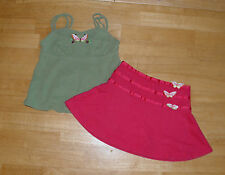GYMBOREE TROPICAL PARADISE BUTTERFLY TANK TOP SKIRT SET GIRLS 3