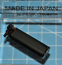 Tsubota Pearl Tall XL BOLBO Black Leather Flint Lighter Seki City Japan Old Boy☦