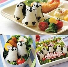 Japanese Cutie 3D Penguin Bento Rice Mold And Seaweed Nori Cutter Set DIY Tools