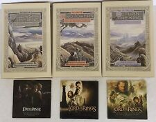 Lord Of The Rings 3 HC Book Box Set + Soundtrack CDs Gandalph Frodo Middle Earth