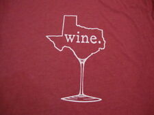 Texas TX Wine Drinker Alcohol Party Funny Humor Soft Red T Shirt 2XL