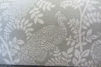 Peacock/Peon French  Jacquard Grey/White Woven Curtain/Craft Fabric