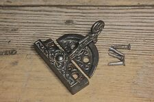 Window latch sash lock swing arm 1880's old vintage rustic iron fancy Victorian