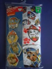 NICKELODEON SUPER CUTE PAW PATROL BOYS' BRIEFS SIZE 4 . YOU GET 3 BRIEFS ! WOW !