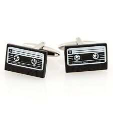 Cassette Tape Player Dj Retro Cufflinks + Box & Cleaner