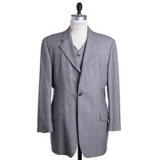 Hugo Boss Suit Size 46 L Glen Plaid Astor 3-Piece