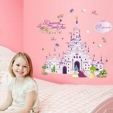 Removable Kids Girl Bedroom Princesses Castle Wall Sticker Wallpaper Decal Decor