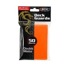 100 BCW Matte Orange MTG Deck Guards Protector Gaming Card Sleeves