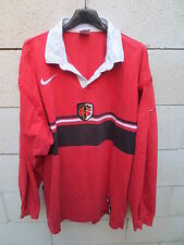 VINTAGE Maillot rugby STADE TOULOUSAIN 1998 Nike shirt coton ancien XL