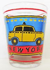 NEW YORK CITY TAXI COLORFUL  SHORT SHOT GLASS