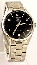 ORIGINAL TAG HEUER CARRERA WV211B.BA0787 AUTOMATIC MENS BLACK ARABIC DIAL WATCH