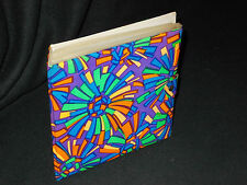 "FAB RETRO 1970's PURPLE/ORANGE/BLUE 7"" RECORD WALLET HOLDER"