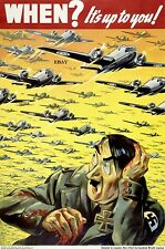 WW2 RECRUITING POSTER ROYAL CANADIAN AIR FORCE CANADA HITLER RAF NEW A4 PRINT
