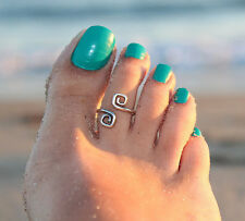Celebrity Women Fashion Simple Retro Toe Ring Adjustable Foot Beach Jewellery
