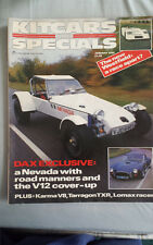 Kitcars & Specials Jan 1986 Dax Nevada, V12, Karma V8, Tarragon TXR