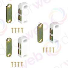 3 PACK MAGNETIC CUPBOARD CATCH Kitchen Cabinet Door Latch Magnet Strong WHITE