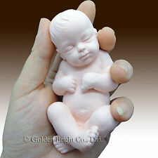 3D Silicone Soap/clay/Candle Mold-Lifelike/Newborn Baby Ethan(2 parts mold)