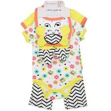 BUSTER BROWN 5 PC LAYETTE SET - BABY GIRL-BEES & FLOWERS-YELLOW-6-9 MONTHS-NWT!