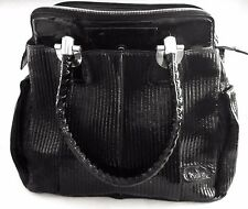 NEW CHLOE Black Patent Lambskin Leather Heloise Large Tote Bag