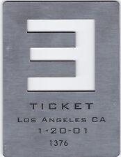 Eminem RARE Concert Ticket 1/20/01 Santa Monica Slim Shady Brick MMLP
