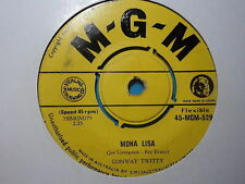 "Conway Twitty ""Mona Lisa"" Classic Hit Oz 7"""