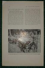 1916 WWI WW1 PRINT ~ AUSTRIAN DOG TRANSPORT CORPS AT GORIZIA BEFORE TOWN CAPTURE
