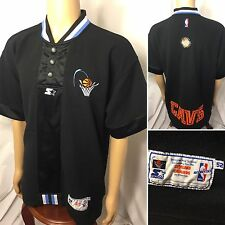 90s VTG CLEVELAND CAVALIERS STARTER WARMUP AUTHENTIC SHOOTING JERSEY SHIRT XL 52