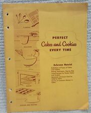 Old 1950's Pet Milk Company Perfect Cakes and Cookies Every Time Book FREE S/H