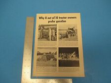 1947 Print Ad Why 8 Out Of 10 Tractor Owners Prefer Gasoline PA020