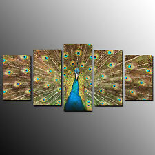 Canvas Prints Canvas Wall Art For Home Decor Peacock Flaunt Tail-5pcs-No Frame