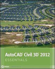 AutoCAD Civil 3D 2012 Essentials, Chappell, Eric, Good Book