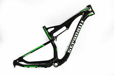 "S 15"" STRADALLI CYCLE 29er CARBON FIBER DUAL SUSPENSION XC BIKE MTB FRAME GREEN"