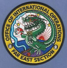 DEA DRUG ENFORCEMENT ADMINISTRATION FAR EAST ASIA SECTION POLICE PATCH