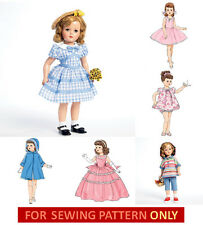 "SEWING PATTERN~MAKE CLOTHES FOR 18"" DOLL! FITS MISS REVLON~CISSY~SHIRLEY TEMPLE!"