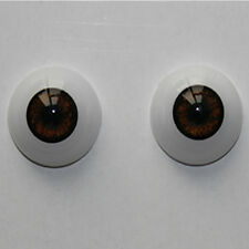 22mm Reborn Baby Doll Eyes Half Round Acrylic Eyes Brown for BJD OOAK Doll
